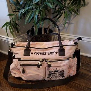Couture Baby Quilted Velour Baby Bag